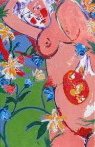 Franics Denis, Maternité aux fleurs